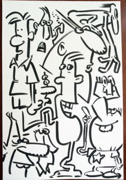 Another Index Card Fulla Faces by shermcohen