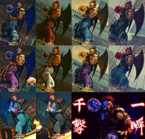 USFIV Cyber Akuma 10 color pack by monkeygigabuster