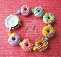 Yummy Pastel Rainbow Watch by colourful-blossom