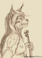 Lynx Violinist Portrait by RussellTuller