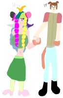 Dick and Nusea holding hands by HYPERJOSEPH