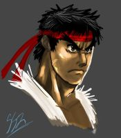 Ryu Sketch 02 by ss2sonic
