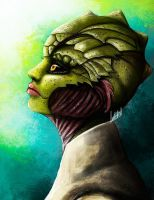 Female Drell by Geirahod