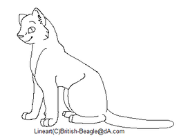 Free Feline Lineart by British-Beagle