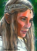 Galadriel Sketch Card 2 by RandySiplon