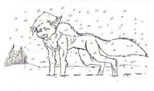 WereUlrich in the snow by WhiteBlueWerecat