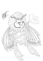 Queen Sectonia :Lineart: by Beliou