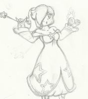 Coinblock fire Rosalina Commission by SuperGon-64