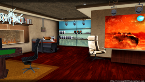 Shepard's Apartment (Citadel DLC) - MMD Stage DL by chococat9001