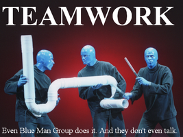 Inspirational Poster: TEAMWORK by IanM