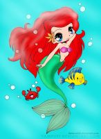 Ariel The Little Mermaid by pink-marshmallows