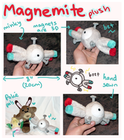 Magnemite Pokedoll plush by SilkenCat