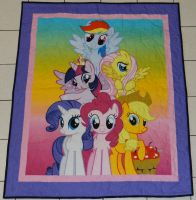 My Little Pony Lap Quilt by quiltoni
