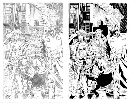 Salt City Strangers #4 Page 1 inking for Critique by hoffmangler
