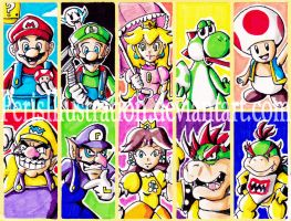 Super Mario Bros Stickers by PerisIllustration