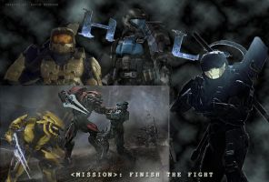 Halo Collage by Dragon-Art14