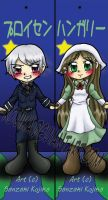 Commission: Prussia and Hungary Bookmarks by kojika