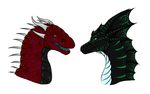 Two of a kind by Bramble-wolf