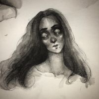 Ink and graphite sketch by asunder