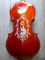 Little foxy violin design by Hollow-Moon-Art