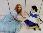 Alice in Wonderland and a Little Sister. by BreakfastGreen