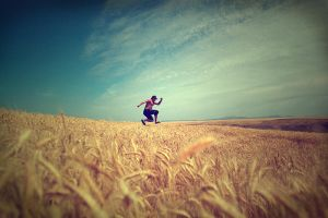 jumping through the fields by vovkas