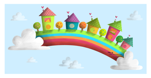 Rainbow town by iMais