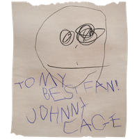 JohnnyCage Baby Autograph by sidneymadmax