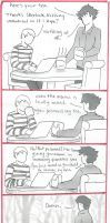 BBC Sherlock comic: Tea by Graphitekind
