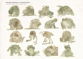 The toad monster 2 of 3 by Vaejoun