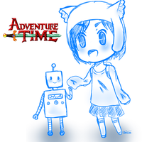 Adventure Time with Mimi and Andy -kid version- by miyukilee123