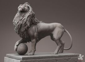 Lion Render by saadirfan