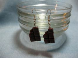 Bitten Chocolate Earrings by kitcat4056