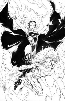 Storm and Phoenix - by Jason Metcalf by JasonMetcalf