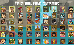 air30002's Top 54 Total Drama Contestants by air30002