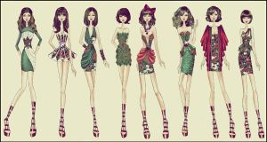 Fashion design : dresses ITALY by TwISHH