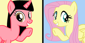 me and Fluttershy by waterbender412