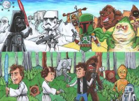 Star Wars Original Trilogy by johnnyism