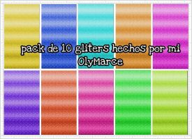 Pack de 10 gliters By:OlyMarce by Olymarce