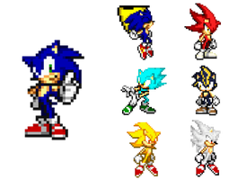 Sonic's Forms by jmkrebs30