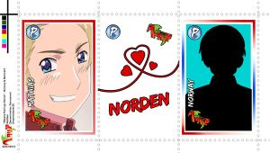 Pairing Series - Hetalia Stamps - NorDen by Dreamweaver38