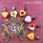 Valentine's Day Polymer Clay Charm Cookies by Lunnie