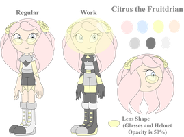 Citrus the Fruit Seedrian (Fruitdrian) - Reference by CitrusGalaxy