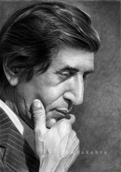 Bahram photorealistic pencil portrait by Thubakabra