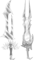 Two Destiny Swords by ChaosElement-X
