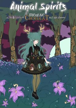 Menthe Chocolat - Animal Spirits Illustration COLO by Ultra-Violette