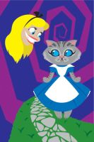 Cheshire Cat in Wonderland by A-New-Power