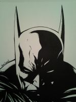 Batman Dark Knight inked by papabear7
