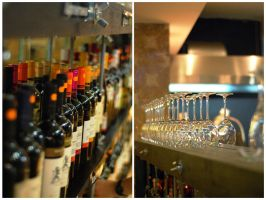 wine and glasses by keffi