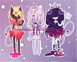 Time Adoptables Batch 3: CLOSED by Zombutts
